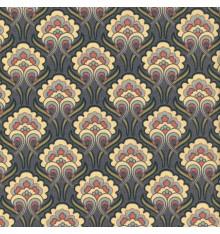 ART NOUVEAU FLORAL fabric - aubergine