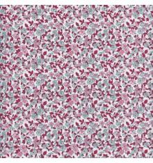 La fleur de la liberté fabric - pink & grey with red