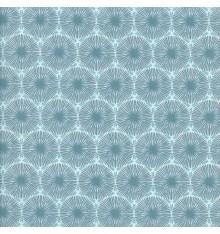 THE DANDELION CLOCKS fabric - celadon & turquoise