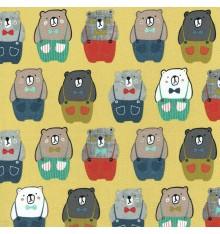 BIG FRIENDLY BEAR jersey fabric