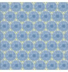 THE DANDELION CLOCKS fabric - cornflower blue & olive green