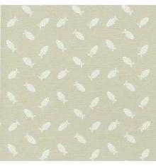 LES PETITS POISSONS fish fabric - Pearl Beige