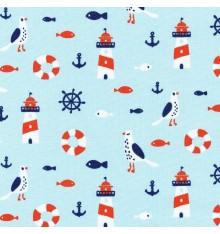 LA VIE NAUTIQUE fabric - Sky Blue