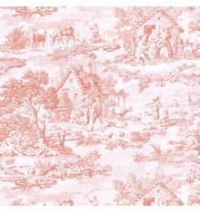 Toile de Jouy Fabric (Oberkampf) Soft Pink
