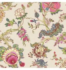 Oriental Tree of Life Double Width fabric (Multicolour)
