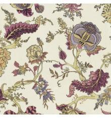 Oriental Tree of Life Double Width fabric (Aubergine)