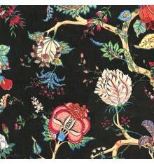 Oriental Tree of Life Double Width fabric (Jet Black)