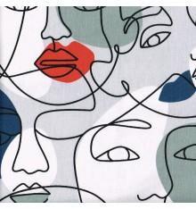 Face 2 Face Cotton Fabric - Multicoloured