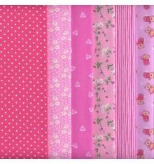 6 Fat Quarters Set (Pink)