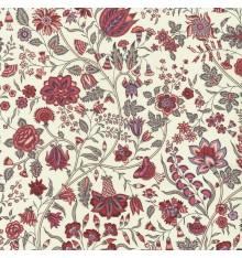 Les Fleurs d'Inde Fabric (Red/Lavender)