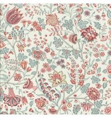 Les Fleurs d'Inde Fabric (Pink/Winter Blue)