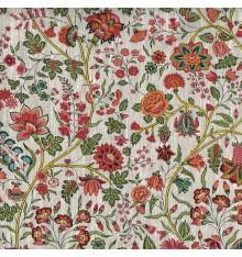 Les Fleurs d'Inde Linen Fabric (Multicolour)