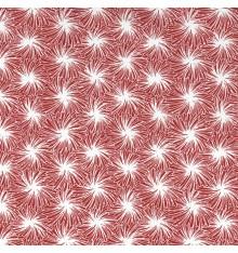Starburst Japanese Geometric fabric - Red & White