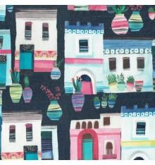 La Villa Greca Colorific digital print fabric