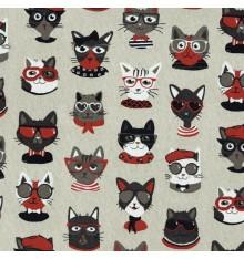 The Fun Cat Family fabric