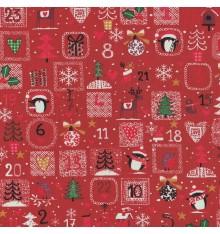 Advent Calendar fabric (Red)