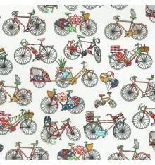 Les Bicyclettes bicycle design fabric - Multicolour