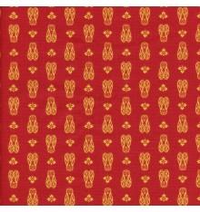 CICADAS Provençal fabric - Red & Yellow Orange