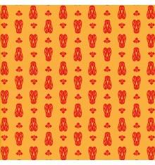 CICADAS Provençal fabric - Yellow Orange & Red