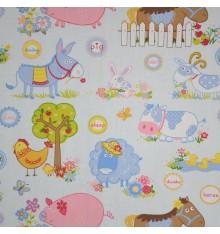 Farmyard Animals Children's Fabric