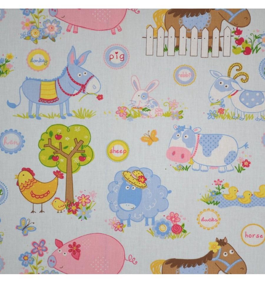farmyard animals children 39 s fabric textiles fran ais